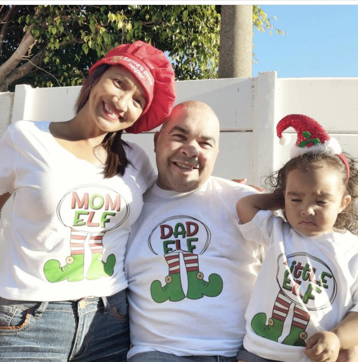 Pic-a-Tee Christmas Family T-shirts with Elf Prints